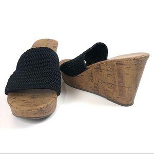 Montego Bay Club Platform Cork Wedge Sandals